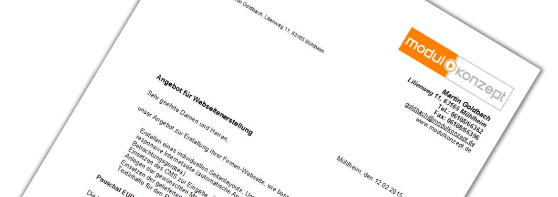 Angebot Anfrage Für Website Erstellen Homepage Webshop